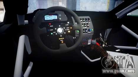 BMW M3 E46 GTR Most Wanted plate Liberty City para GTA 4 vista interior