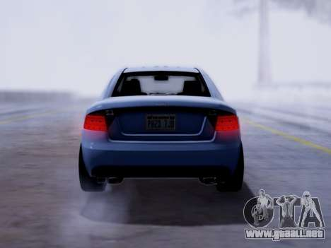 Obey Tailgater GTA V para GTA San Andreas vista posterior izquierda