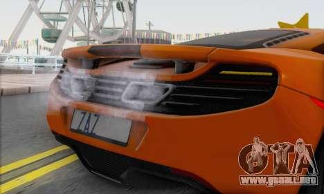 McLaren MP4-12C Gawai v1.4 para GTA San Andreas vista posterior izquierda