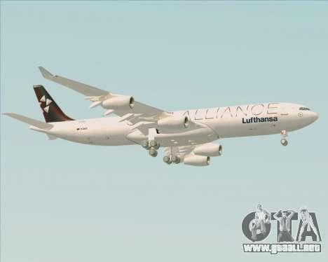 Airbus A340-300 Lufthansa (Star Alliance Livery) para la visión correcta GTA San Andreas