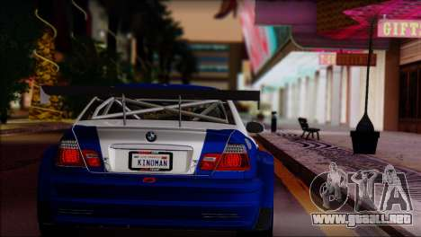 BMW M3 E46 GTR para GTA San Andreas left