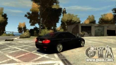 BMW 525 F10 para GTA 4 vista interior