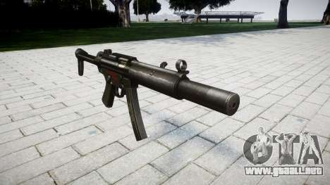 Pistola de MP5SD RO FS para GTA 4