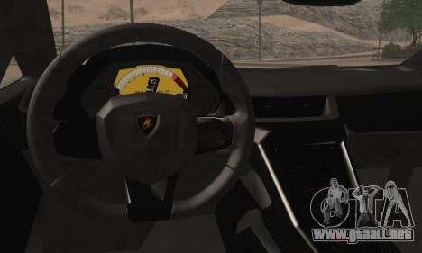 Lamborghini Veneno LP750-4 White Black 2014 HQLM para GTA San Andreas vista posterior izquierda