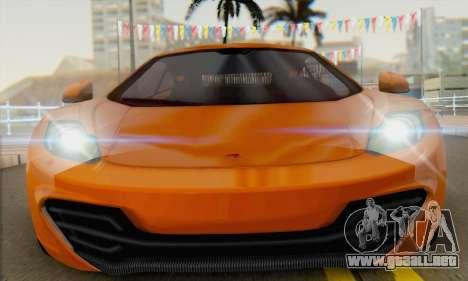 McLaren MP4-12C Gawai v1.4 para la visión correcta GTA San Andreas
