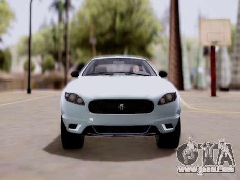 GTA V Ocelot Jackal para GTA San Andreas vista posterior izquierda