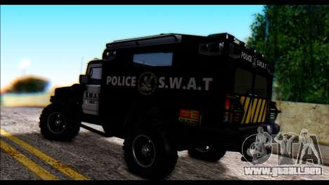 SWAT Enforcer para GTA San Andreas left