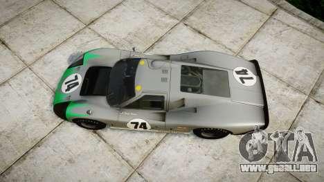 Ford GT40 Mark IV 1967 PJ Arnao Racing 74 para GTA 4 visión correcta