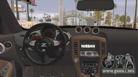 Nissan 370Z para GTA San Andreas vista posterior izquierda