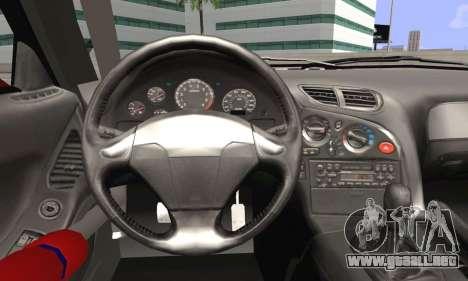 Mazda RX-7 Fail Crew para GTA San Andreas vista posterior izquierda