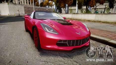 Chevrolet Corvette Z06 2015 TireMi2 para GTA 4