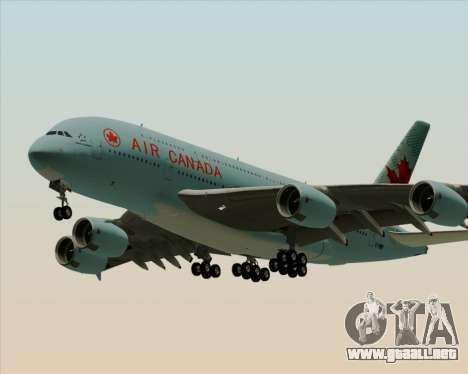 Airbus A380-800 Air Canada para GTA San Andreas vista posterior izquierda