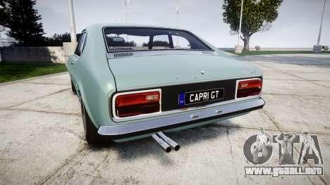 Ford Capri GT Mk1 para GTA 4 Vista posterior izquierda