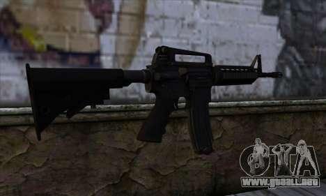 M4A1 para GTA San Andreas segunda pantalla