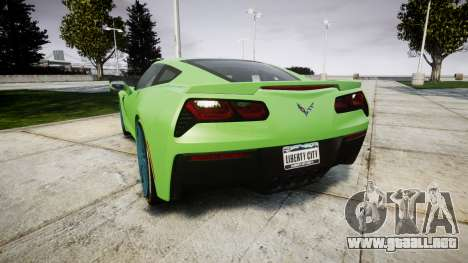 Chevrolet Corvette C7 Stingray 2014 v2.0 TireMi1 para GTA 4 Vista posterior izquierda