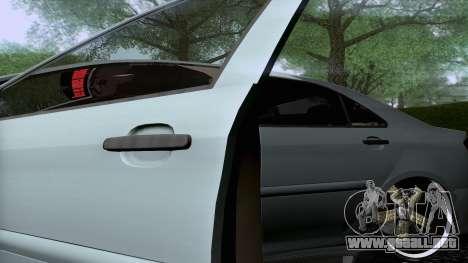 Toyota Vios Extreme Edition para GTA San Andreas vista hacia atrás