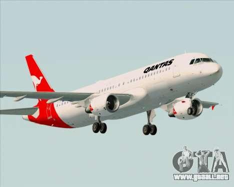 Airbus A320-200 Qantas para visión interna GTA San Andreas