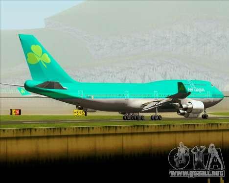 Boeing 747-400 Aer Lingus para vista inferior GTA San Andreas