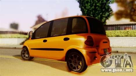 Fiat Multipla Normal Bumpers para GTA San Andreas left