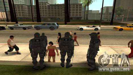 Skin Third Echelon para GTA San Andreas tercera pantalla