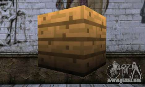 Bloque (Minecraft) v11 para GTA San Andreas segunda pantalla