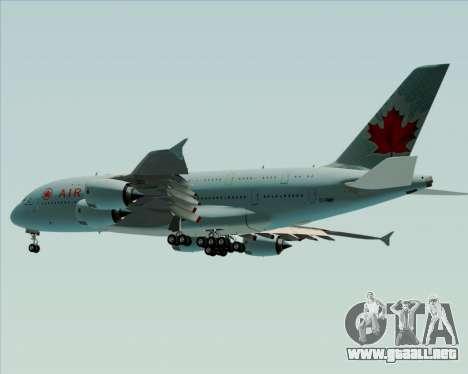 Airbus A380-800 Air Canada para visión interna GTA San Andreas