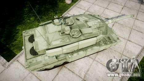Leopard 2A7 PT Green para GTA 4 visión correcta