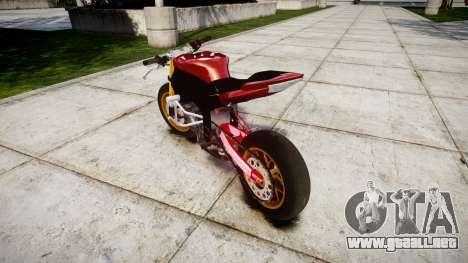 Yamaha YZF-R6 Stunt para GTA 4 Vista posterior izquierda
