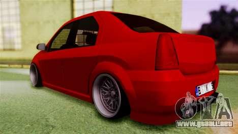 Dacia Logan Kys para GTA San Andreas left