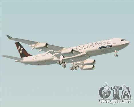 Airbus A340-300 Lufthansa (Star Alliance Livery) para la vista superior GTA San Andreas