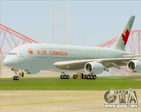 Airbus A380-800 Air Canada para GTA San Andreas left