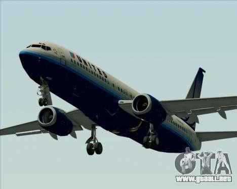 Boeing 737-800 United Airlines para la vista superior GTA San Andreas