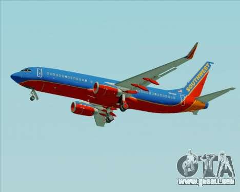 Boeing 737-800 Southwest Airlines para las ruedas de GTA San Andreas