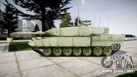 Leopard 2A7 PT Green para GTA 4 left