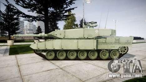 Leopard 2A7 PT Green para GTA 4 left
