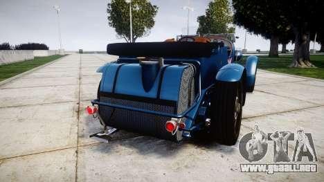 Bentley Blower 4.5 Litre Supercharged [high] para GTA 4 Vista posterior izquierda