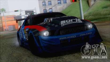 Ford Shelby GT500 2010 (IVF) para GTA San Andreas left