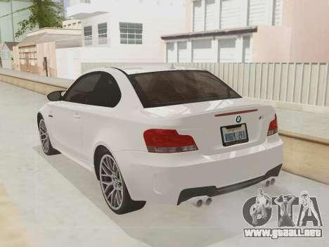 BMW 1M 2011 para visión interna GTA San Andreas