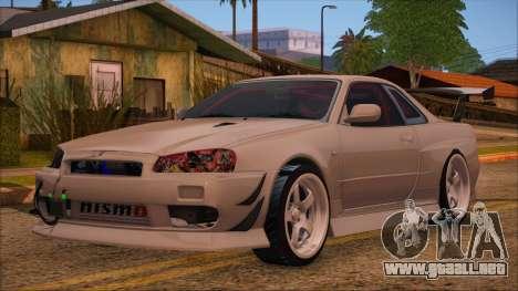 Nissan Skyline R34 GTR V-Spec 2 para GTA San Andreas