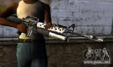 M4 from Call of Duty: Black Ops v2 para GTA San Andreas tercera pantalla