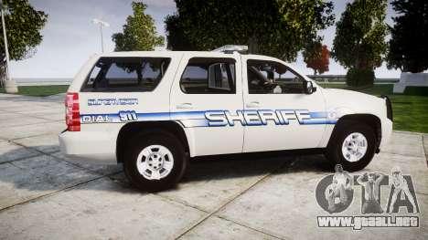 Chevrolet Tahoe [ELS] Liberty County Sheriff para GTA 4 left