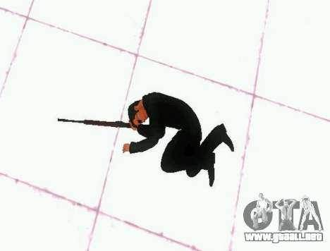 Ped.ifp v2 para GTA San Andreas quinta pantalla