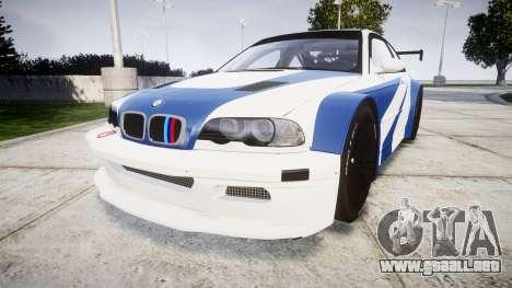 BMW M3 E46 GTR Most Wanted plate Liberty City para GTA 4