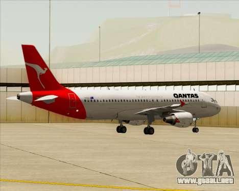 Airbus A320-200 Qantas para GTA San Andreas vista hacia atrás