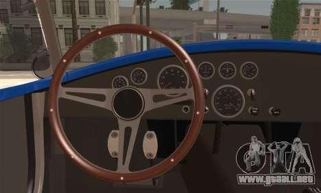 Shelby Cobra V10 TT Black Revel para GTA San Andreas vista posterior izquierda