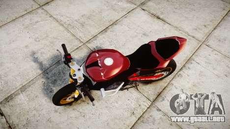 Yamaha YZF-R6 Stunt para GTA 4 visión correcta