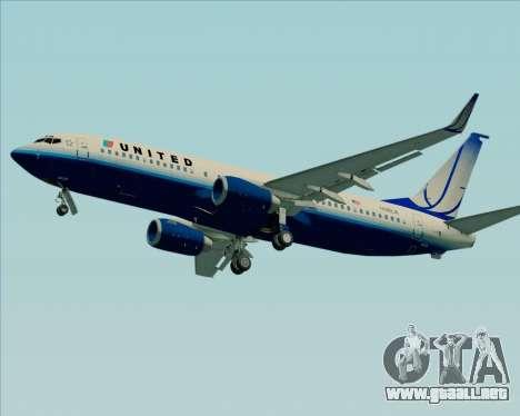 Boeing 737-800 United Airlines para GTA San Andreas vista hacia atrás