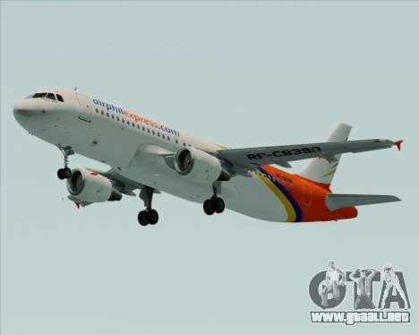 Airbus A320-200 Airphil Express para GTA San Andreas left