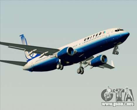 Boeing 737-800 United Airlines para visión interna GTA San Andreas