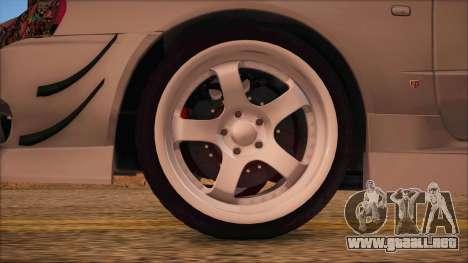 Nissan Skyline R34 GTR V-Spec 2 para GTA San Andreas vista posterior izquierda
